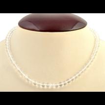 Erősíti a megérzéseket, koronacsakra - Hegyikristály 6 mm-es nyaklánc