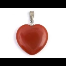 Karneol kis szív medál