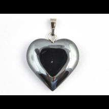 Hematit kis szív medál