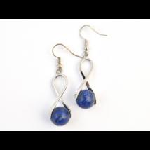 Lápisz lazuli csavart fülbevaló