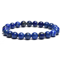 Szerelmi kapcsolat erősítése, stresszoldó - Lápisz lazuli 8 mm-es AB karkötő