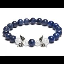 Érfaltisztító, spirituális fejlődés - Kékkvarc karkötő dupla angyallal