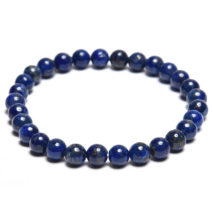Belső kisugárzás, női ciklus - Lápisz lazuli 6 mm-es karkötő