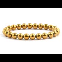 Hematit, aranyszínű 8 mm-es karkötő